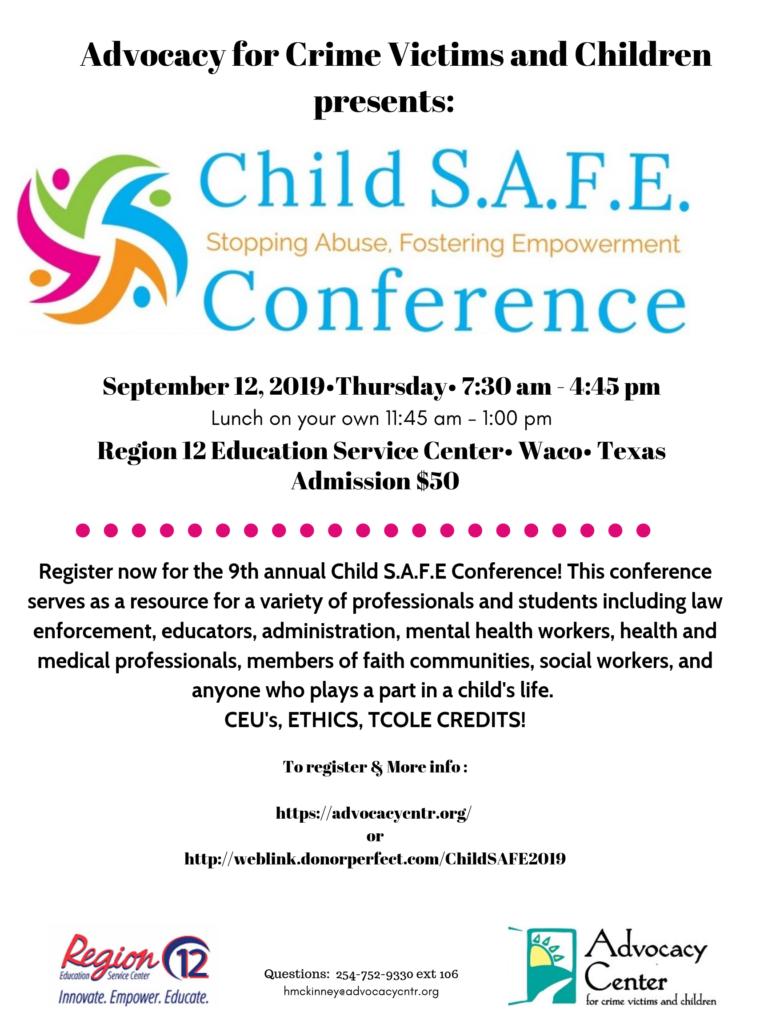 9th Child SAFE Flyer PNG